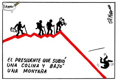 Cartoon: Crisis y recesion (medium) by jrmora tagged crisis,economia,recesion,dinero,wall,street