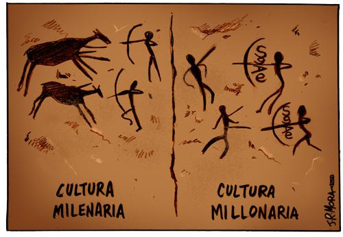 Cartoon: Cultura y derechos (medium) by jrmora tagged cultura,gestion,derechos