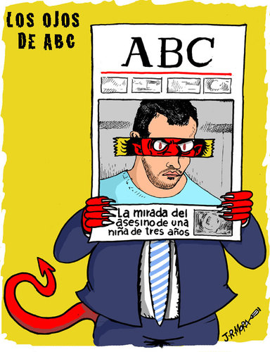 Cartoon: Diario ABC acusa y juzga (medium) by jrmora tagged aitana,error,prensa,abc