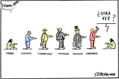 Cartoon: Economia (medium) by jrmora tagged economia,crisis,subprime,bolsa,ahorros,bancos,banca,valores