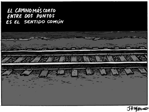 Cartoon: El camino mas corto (medium) by jrmora tagged tren,velocidad,paso,subterraneo,atropello,pasajeros,barcelona,spain