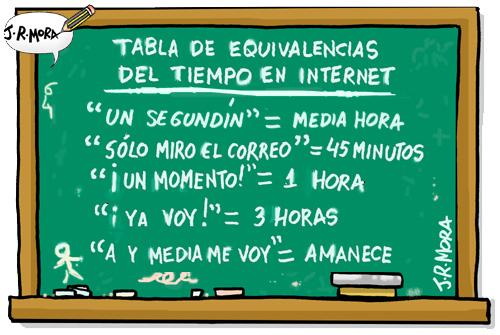Cartoon: El tiempo en internet (medium) by jrmora tagged tiempo,internet,red