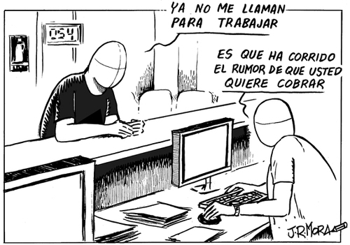 Cartoon: Empleo (medium) by jrmora tagged empleo,worker,spain,trabajo,work