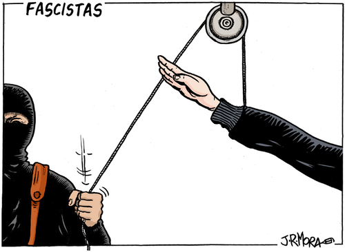 Cartoon: Fascistas (medium) by jrmora tagged fascistas,fascismo