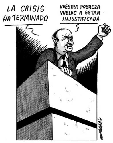 Cartoon: Fin de la crisis (medium) by jrmora tagged crisis,mundial,economia