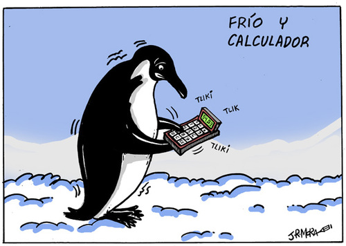 Cartoon: Frio y calculador (medium) by jrmora tagged frio,calculador