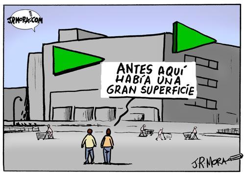 Cartoon: Grandes superficies (medium) by jrmora tagged mercados,supermercados,grandes,superficies,comercio