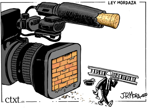 Cartoon: Ley Mordaza Spain (medium) by jrmora tagged spain,mordaza,ley