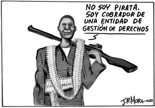 Cartoon: Piratas de Somalia (medium) by jrmora tagged piratas,somalia,barcos,petroleo,carburante,secuestro