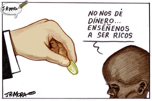Cartoon: Pobreza (medium) by jrmora tagged pobreza,hambruna,africa,riqueza,pobres,ricos