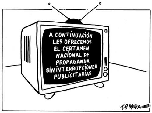 Cartoon: Propaganda (medium) by jrmora tagged debate,estado,nacion
