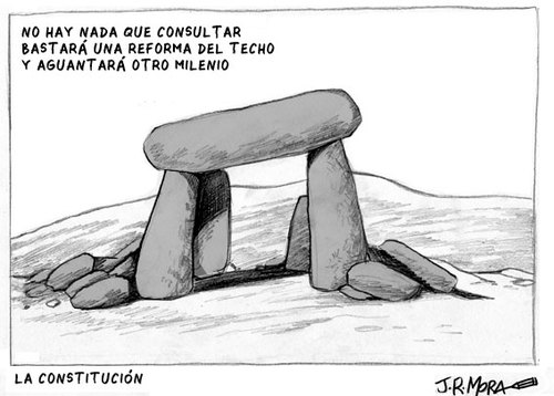 Cartoon: Reforma Constitucion Spain (medium) by jrmora tagged dinero,economia,deficit,gasto,techo,ley,leyes
