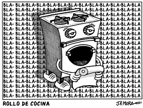 Cartoon: Rollo de cocina (medium) by jrmora tagged rollo,de,cocina