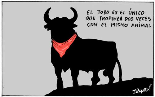 Cartoon: San Fermin (medium) by jrmora tagged toros,pamplona,spain,san,fermin