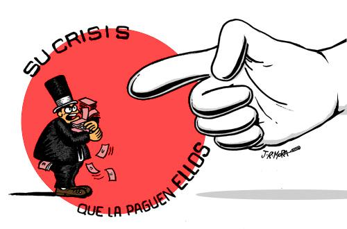 Cartoon: Su crisis que la paguen ellos (medium) by jrmora tagged banca,crisis,inyeccion,dinero,probreza,bolsa