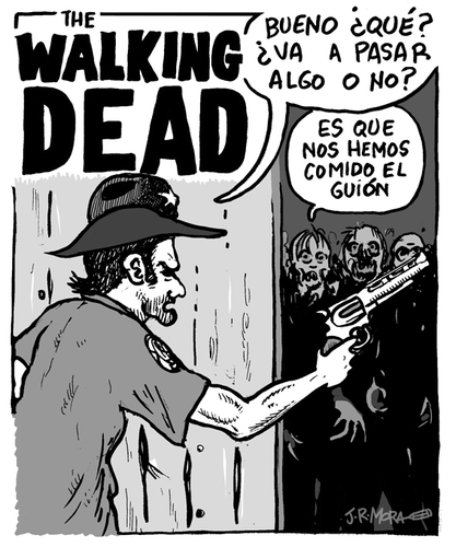Cartoon: The Walking Dead (medium) by jrmora tagged series,serie,script,dead,walking