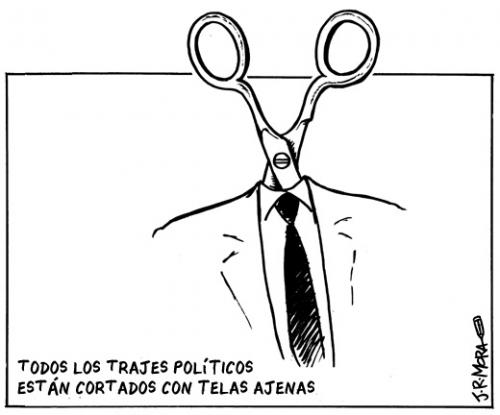 Cartoon: Trajes politicos (medium) by jrmora tagged politica,spain,ayuntamientos