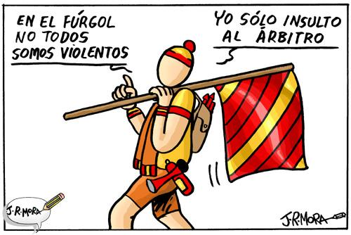 Cartoon: Violencia en el futbol (medium) by jrmora tagged futbol,deporte,violencia