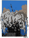 Cartoon: 9 11 (small) by jrmora tagged 11s,s11,world,trade,center,terror