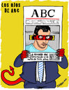 Cartoon: Diario ABC acusa y juzga (small) by jrmora tagged aitana,error,prensa,abc