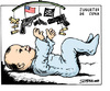 Cartoon: Juguetes de cuna (small) by jrmora tagged infancia,usa,armas,weapons,guns