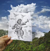 Cartoon: 5 - Pencil Vs Camera for AOC (small) by BenHeine tagged cesaria evora pencil vs camera ben heine benheine cape verde cap vert art drawing photography singer song music africa afrique micro cloud cloudy nuage dove colombe bird oiseau blue blues morna fado portuguese culture mountain island capvert