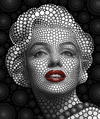 Cartoon: Marilyn Monroe (small) by BenHeine tagged marilyn,monroe,marilynmonroe,ben,heine,benheine,digital,circlism,digitalcirclism,art,theartistery,portrait,sensuality,sensual,actress,singer,actrice,chanteuse,passion,cercles,circles,eyes,yeux,expressive,glamor,glamour,norma,jeane,mortenson,baker,model,wo