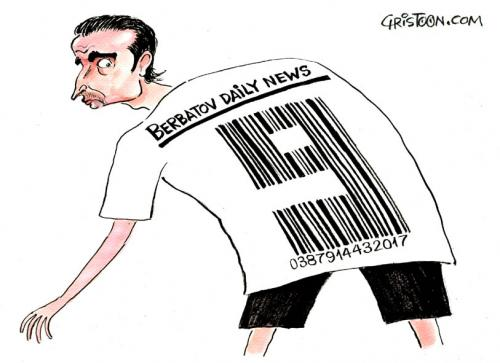 Cartoon: Dimitar Berbatov (medium) by Christo Komarnitski tagged sports,soccer,money,
