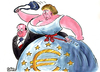 Cartoon: Hollande - Merkel (small) by Christo Komarnitski tagged hollande,merkel,france,germany,euro