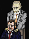Cartoon: Medwedew und  Putin (small) by Anitschka tagged medwedew,putin