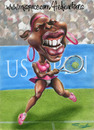 Cartoon: Serena Williams (small) by Fredy tagged serena,spots,tenis,girl