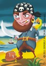 Cartoon: Pirate (small) by bacsa tagged pirate
