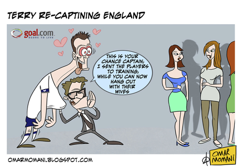 Cartoon: Cappelo the pimp (medium) by omomani tagged cappelo,terry,england