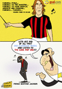 Cartoon: A Farewell to Pirlo (small) by omomani tagged pirlo,galliani,kevin,prince,boateng,michael,jackson,ac,milan