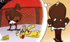 Cartoon: Balotelli dreams of UFC glory (small) by omomani tagged balotelli,ufc