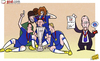 Cartoon: Benitez bolsters CV (small) by omomani tagged branislav,ivanovic,cech,chelsea,david,luiz,europa,league,lampard,rafael,benitez,ramires,torres