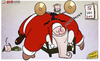 Cartoon: Christmas comes early 4 Sneijder (small) by omomani tagged christmas,elve,inter,milan,santa,claus,sneijder
