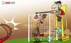 Cartoon: Dazzled David de Gea and Suarez (small) by omomani tagged de,gea,england,fa,cup,holland,kuyt,liverpool,manchester,united,netherlands,premier,league,spain,suarez,uruguay