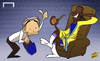 Cartoon: Drogba returns home to Chelsea (small) by omomani tagged chelsea,drogba,mourinho
