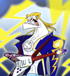 Cartoon: God of Thunder and Rock n Roll (small) by omomani tagged god,of,thunder,rock,roll,elvis,zeus,kiss