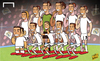 Cartoon: Men in the mask Ronaldo facade (small) by omomani tagged champions,league,cristiano,ronaldo,real,madrid