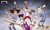Cartoon: Thierry Henry welcomes new stars (small) by omomani tagged henry,kaka,lampard,mls,new,york,city,red,bulls,orlando,villa