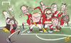 Cartoon: Van Gaal selection dilemma (small) by omomani tagged adnan,januzaj,ander,herrera,ashley,young,de,gea,di,maria,falcao,juan,mata,manchester,united,phil,jones,rooney,van,persie
