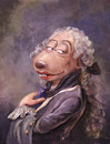 Cartoon: Louis Comte de Beaurat (small) by Uschi Heusel tagged ratte,ludwig,louis,mätresse,fingerpuppe,könig,versailles