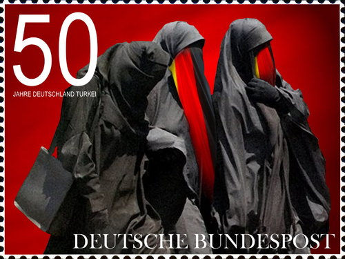 Cartoon: Burka (medium) by willemrasingart tagged germany
