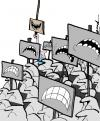 Cartoon: untitled (small) by andart tagged demonstration mass andart