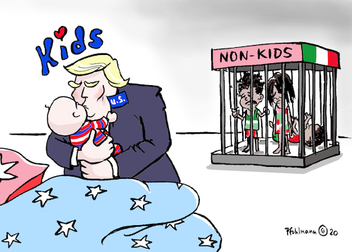 Cartoon: Kinderliebe Trump (medium) by Pfohlmann tagged 2020,usa,trump,präsident,kinder,kids,nonkids,mexiko,immigration,abtreibung,liebe,demonstration,abtreibungsgegner,march,for,life,nationalismus,rassismus,2020,usa,trump,präsident,kinder,kids,nonkids,mexiko,immigration,abtreibung,liebe,demonstration,abtreibungsgegner,march,for,life,nationalismus,rassismus