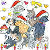 Cartoon: Hunde Winter (small) by sabine voigt tagged hunde,winter,jesus,krippe,weihnachten,heilige,drei,könige,christentum,religion,kirche,fest,geschenke