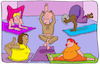 Cartoon: Yoga Meditation (small) by sabine voigt tagged yoga,meditation,asana,entspannung,wellness,gesundheit,zen,om,esotherik,religion