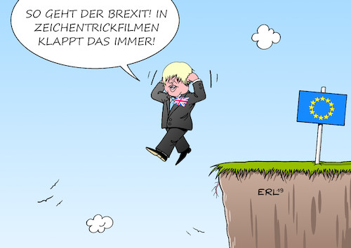 Cartoon: Boris Johnson (medium) by Erl tagged politik,austritt,großbritannien,gb,uk,eu,versagen,premierministerin,theresa,may,rücktritt,nachfolger,kandidat,boris,johnson,no,deal,harter,brexit,zeichentrickfilm,klippe,europa,karikatur,erl,politik,austritt,großbritannien,gb,uk,eu,versagen,premierministerin,theresa,may,rücktritt,nachfolger,kandidat,boris,johnson,no,deal,harter,brexit,zeichentrickfilm,klippe,europa,karikatur,erl